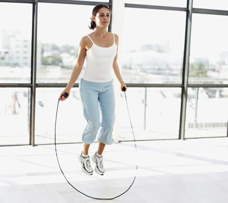 Skipping Rope for Thighs Exercise