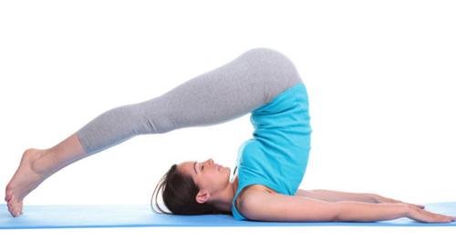 Halasana pose Yoga