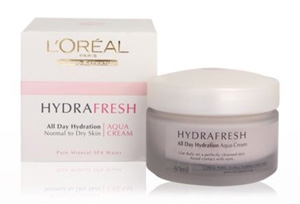 L'Oreal Paris Hydrafresh Aqua Cream for dry Skin