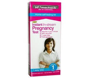Homecheck Instant In-Stream Pregnancy Test