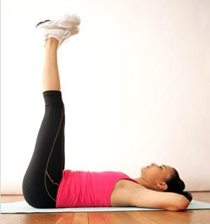 Vertical leg crunch Exercise