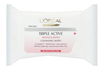 L'Oreal Dermo-Expertise Re-nourishing Cleansing Wipes