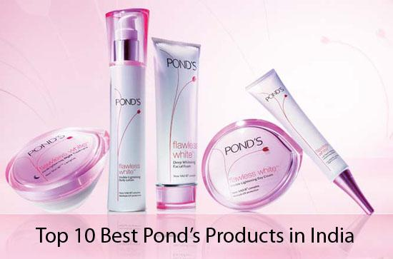 Top 10 best ponds products available in india for Ponds products